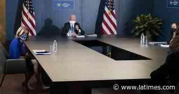 Split-screen presidency: Biden plays the part Trump ignores - Los Angeles Times