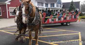 No snow is no problem as Long Grove sleigh ride season begins