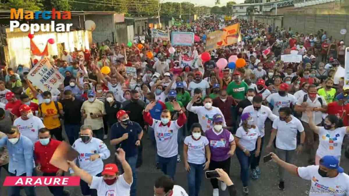 Juan Escalona: Visita a Araure se convirtió en una gran marcha popular por el rescate de la AN - El Universal (Venezuela)