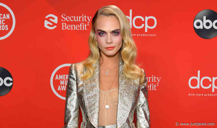 Cara Delevingne Looks So Chic in Glittering Suit at American Music Awards 2020!