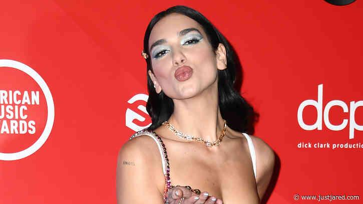 Dua Lipa Blows a Kiss on American Music Awards 2020 Red Carpet