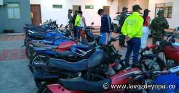16 motocicletas incautadas en Paz de Ariporo - Noticias de casanare - La Voz De Yopal