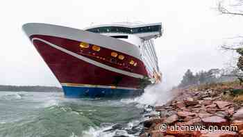Grounded Baltic Sea ferry pulled off seabed, resumes trip