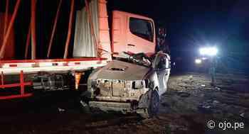 Brutal choque entre tráiler y camioneta deja un fallecido en Mórrope - Diario Ojo