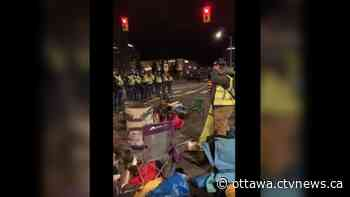 Ottawa police remove demonstrators from downtown intersection following two-day call for action - CTV News Ottawa