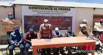 Disputa de 50 kilómetros de territorio entre Tarata y El Collao - Diario Correo