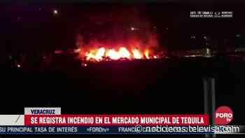 Se incendia Mercado Municipal de Tequila, Veracruz - Noticieros Televisa