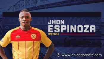 Chicago Fire FC Adquiere al Defensa de 21 Años Jhon Espinoza