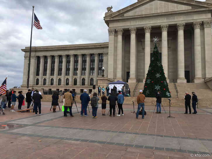 Small group rallies at Capitol steps wanting children back in classrooms