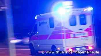 82 Jahre alter Autofahrer wird bei Unfall in Crawinkel schwer verletzt - Thüringer Allgemeine