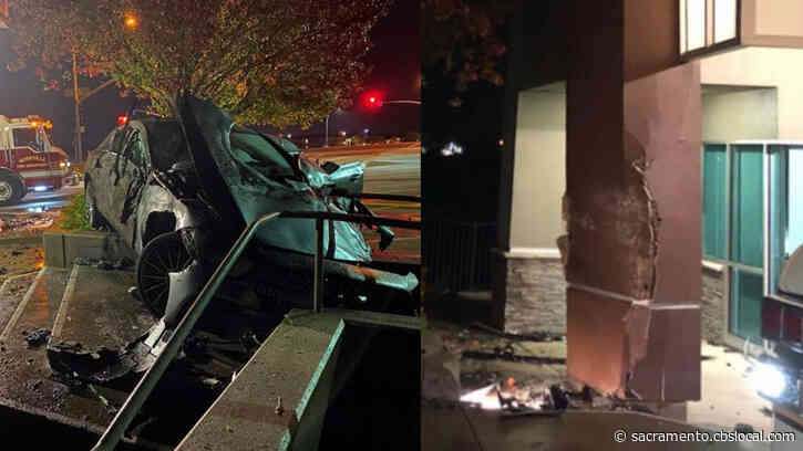 Roseville Firefighters Rescue DUI Suspect Who Crashed Into Their Fire Station