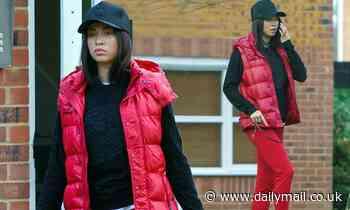 Strictly's Katya Jones looks glum as she leaves her house after coronavirus isolation