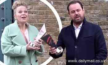 Inside Soap Awards: Danny Dyer, 43, and Kellie Bright, 44, joke about their ages during win