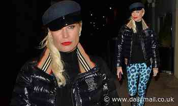 Denise Van Outen looks chic in bold leopard print leggings after photoshoot