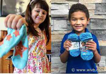 Socks with stories: Pediatric cancer survivors pay it forward to Buffalo families still fighting