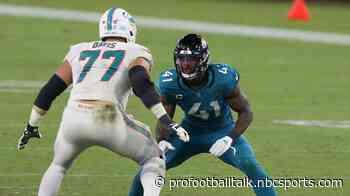 Dolphins place Jesse Davis on COVID-19 list