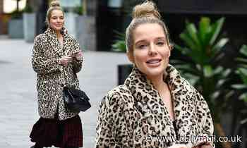 Pregnant Helen Flanagan is all smiles after visiting a dental clinic