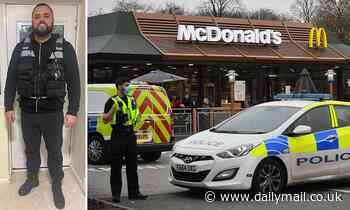 Hero McDonalds customer disarmed man holding a knife to a worker's throat