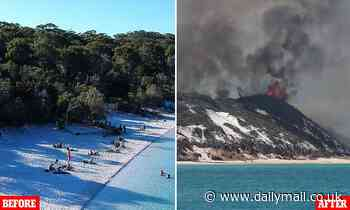 Fraser island smothered in raging 'apocalyptic' bushfire