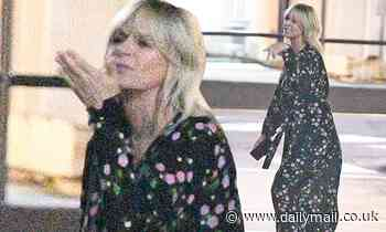 Zoe Ball looks glitzy leaving Strictly studios on her 50th birthday