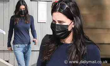 Courteney Cox shops for gardening supplies in Malibu after the Friends reunion is pushed back