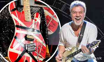 Eddie Van Halen's guitars and Michael Jackson's glove are among musical mementos on auction block