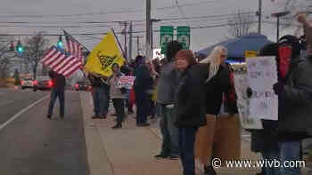 Protesters gather in Orchard Park, rallying against COVID-19 restrictions