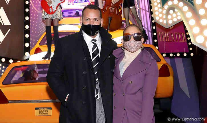 Jennifer Lopez Joins Alex Rodriguez to Light Up Saks Fifth Avenue's Holiday Window!