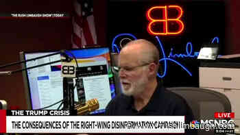 MSNBC Smears One of Our Callers - Rush Limbaugh