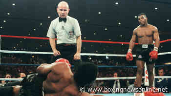 Mike Tyson wins his first world title as he drops Trevor Berbick three times with one punch - Boxing News Online
