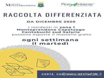 Modificata la raccolta differenziata della carta nella Zona 1 di Monteprandone - Ascoli Notizie