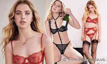 Noel Gallagher's daughter Anaïs poses up a storm for festive lingerie shoot