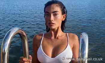 Former Victoria's Secret model Kelly Gale suffers an X-rated accident in bikini