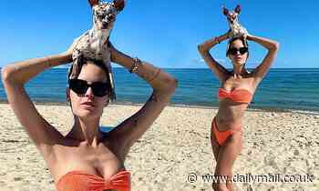 Tallulah Willis looks incredible in an orange bikini as she poses for stunning beach snap