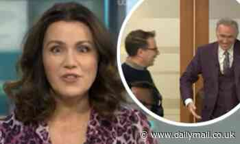 Susanna Reid screams when Dr Hilary Jones 'gets too close' to Richard Arnold