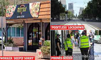 South Australia Covid: Pizza bar worker whose lie sparked lockdown APOLOGISES