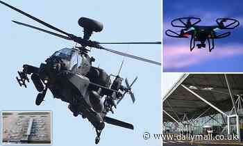 Apache helicopter was deployed to help police track rogue drone near Stansted Airport