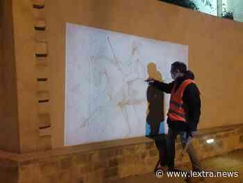 Tarquinia, Guido Sileoni ha iniziato l'opera di realizzazione del dipinto lungo via le Rose - lextra.news