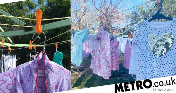 Mum swears off ironing for good thanks to easy laundry hanging method