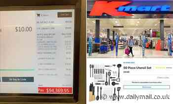 Australian woman horrified when her Kmart shop cost $94,369 thanks to a simple computer glitch
