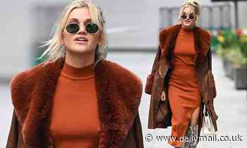 Ashley Roberts wows in a tight co-ord, fluffy coat and snakeskin boots