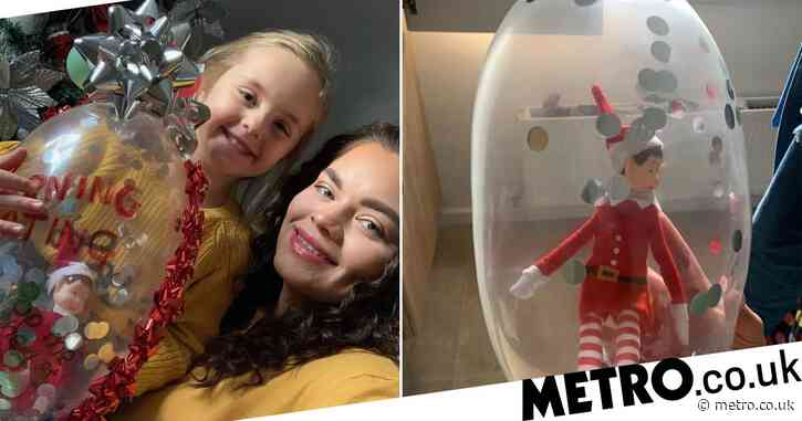 Mum makes quarantining elf on a shelf using a condom