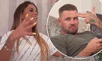 Katie Price leaves her boyfriend Carl Woods VERY unimpressed with her singing abilities