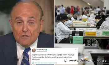 Giuliani says he 'exaggerated a bit' when he said there were more votes than citizens in Detroit