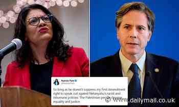 Rashida Tlaib accused of anti-Semitism in response to Tony Blinken's Secretary of State nomination