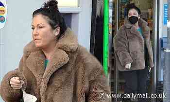 EastEnders star Jessie Wallace wears a cosy teddy coat for trip to shops