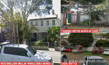 Neighbours at war over a tiny strip of land in one of Sydney's richest suburbs