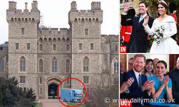 Removal van arrives at empty Frogmore Cottage in Windsor after Prince Harry and Meghan Markle left