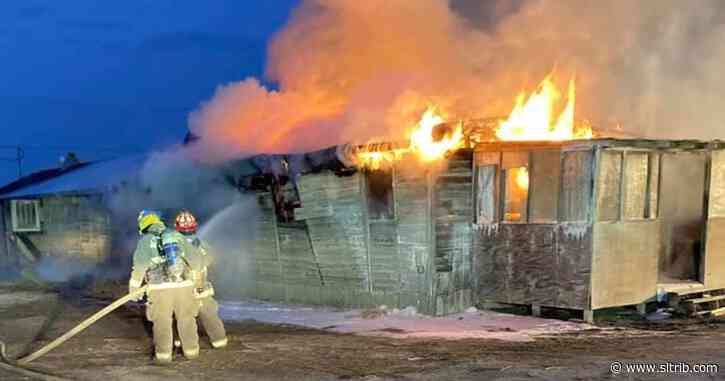Fire destroys historic barracks at Wendover Airfield