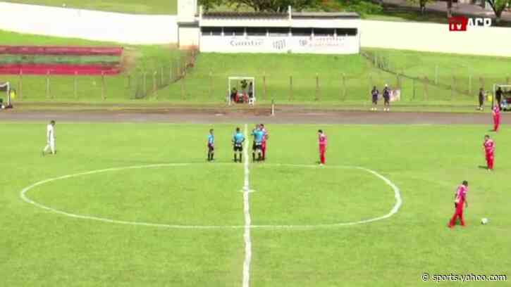 Oddly-shaped centre circle causes stir in Brazil's third division